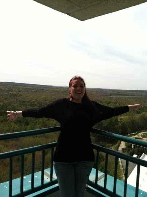 Aussicht von einem der Hotelzimmer im Kasinoresort Foxwoods