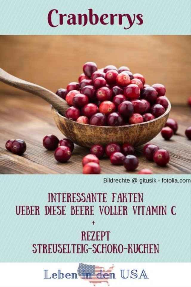 Cranberrrys Rezept und interessantes