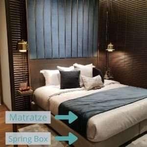 Amerikanisches Bett mit Spring Box und Matraze