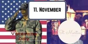 11. November in Deutschland und in den USA ein Feiertag - Leben in den USA