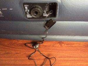 Elektrische Pumpe eingebaut im Gästebett