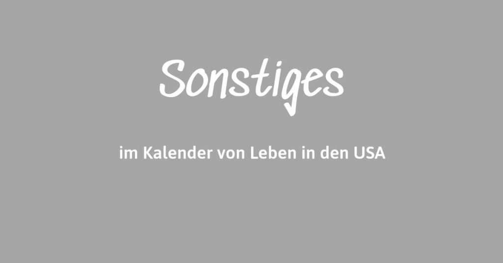 Sonstige deutsche Veranstaltung im Kalender