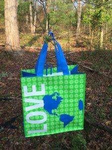 Umweltfreundliche Tasche kostenlos erhalten zum Earth Day im April