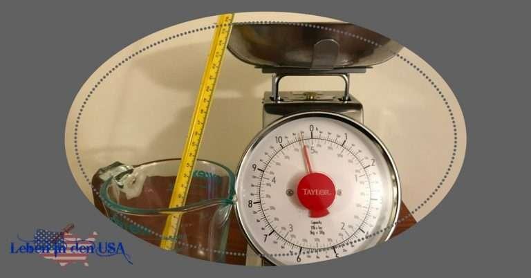 Umrechnen US Maße und mehr zu Zahlen in den USA