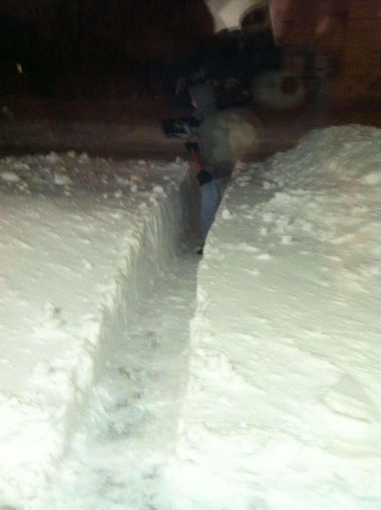 Blizzards und Schneestürme