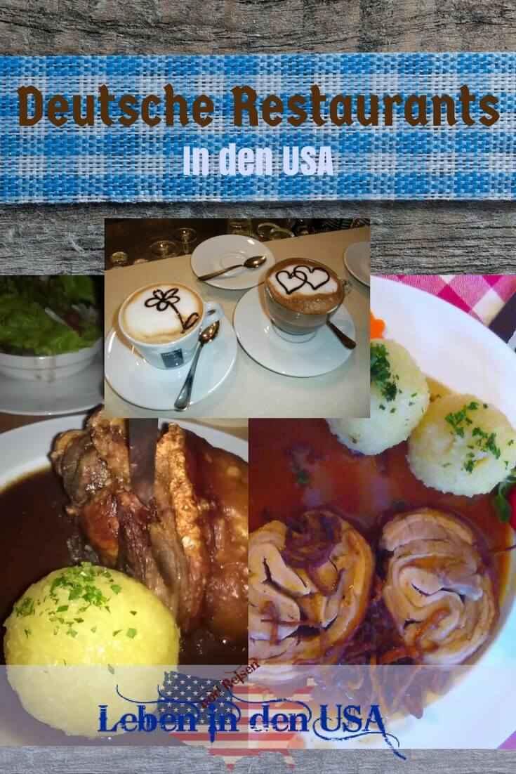 Liste mit deutschen Restaurants in den USA