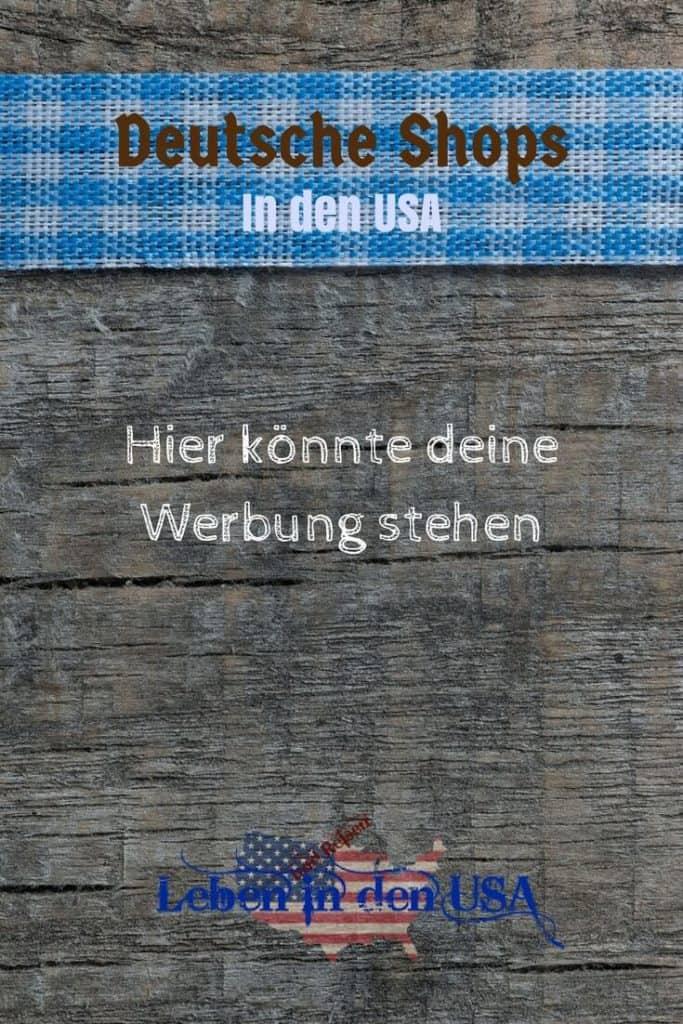 Werbung fuer deutsche shops in den USA
