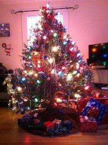 Geschmückter Weihnachtsbaum in den USA