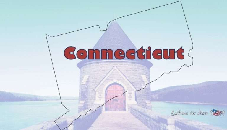 Connecticut der Constitution State in Neuengland USA