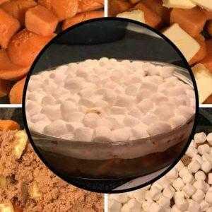 Süßkartoffelauflauf - Süßkartoffen mit Marschmallows
