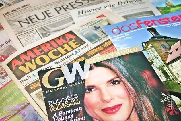 German-Americans in the USA and German newspapers and magazines
