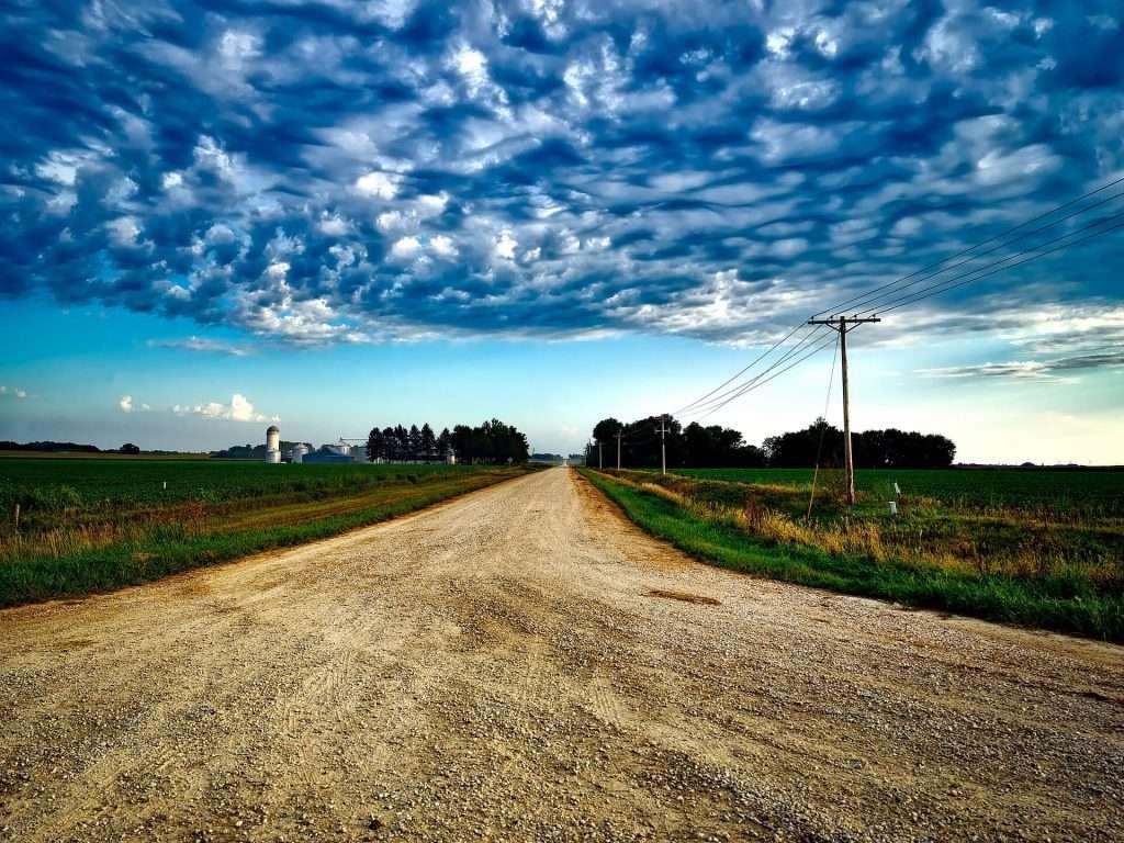 Iowas Landschaft - Einer der Staaten in Amerika