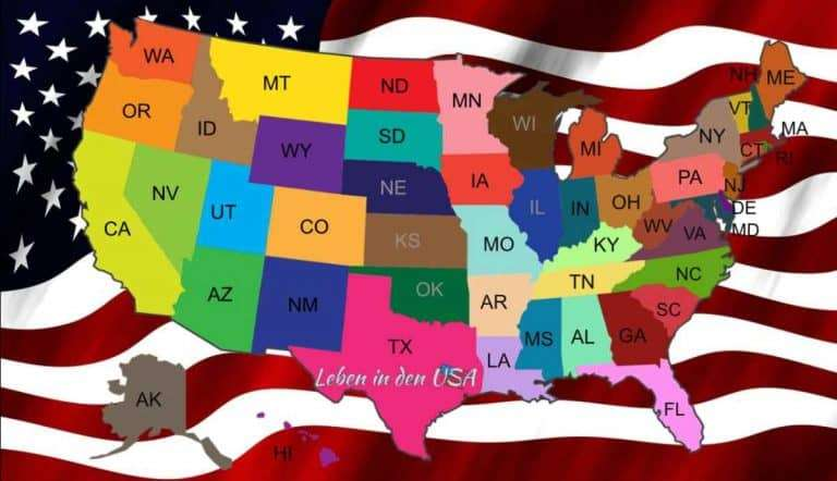 Staaten in Amerika – Liste mit den Bundeststaaten der USA