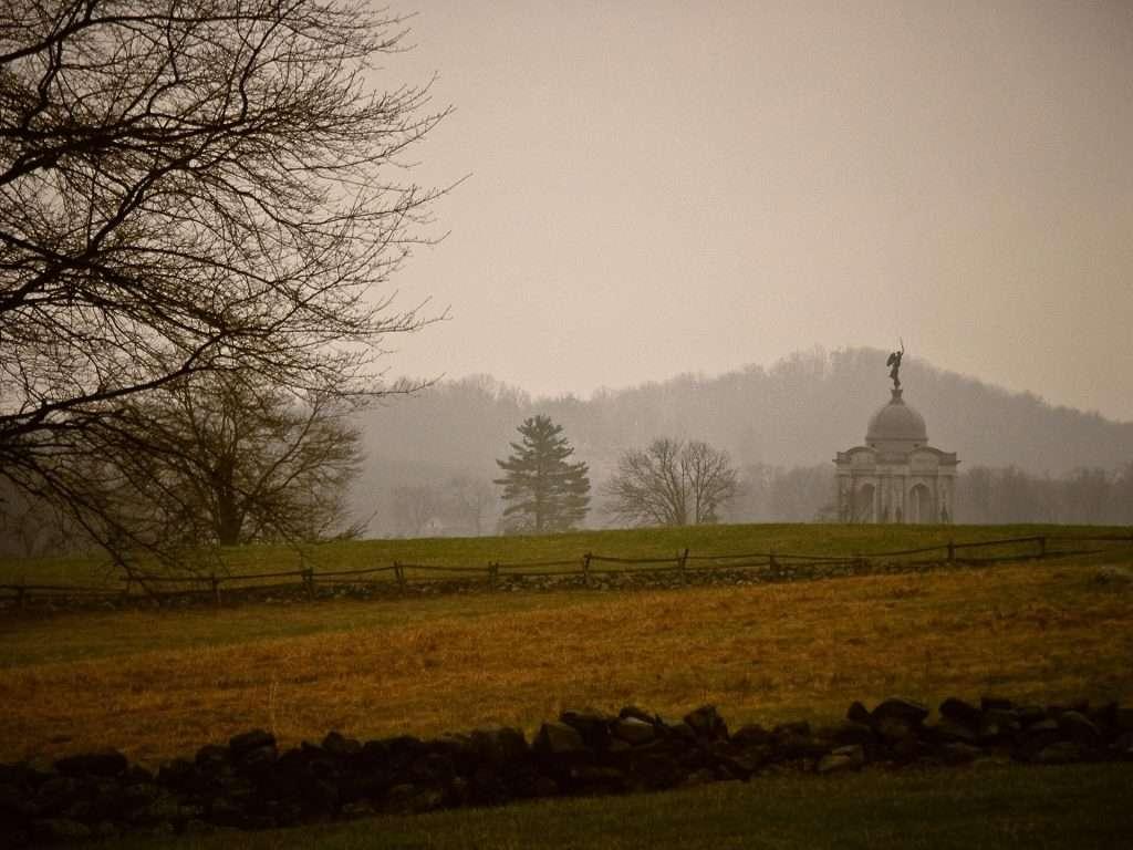 Gettisburg im Staat Pennsylvania einer der Sehenswürdigkeiten der Geschichte der USA