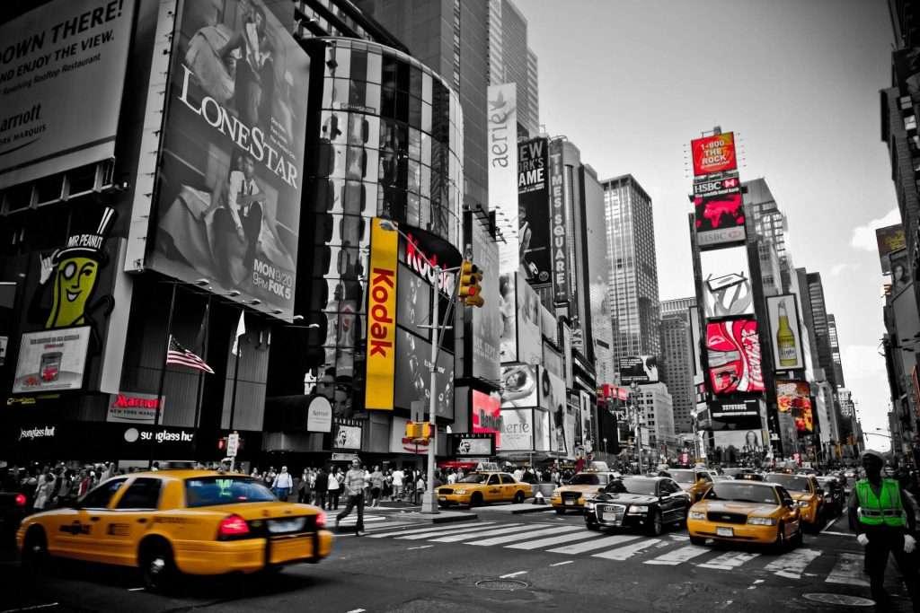 Die Stadt und der Staat New York in den USA