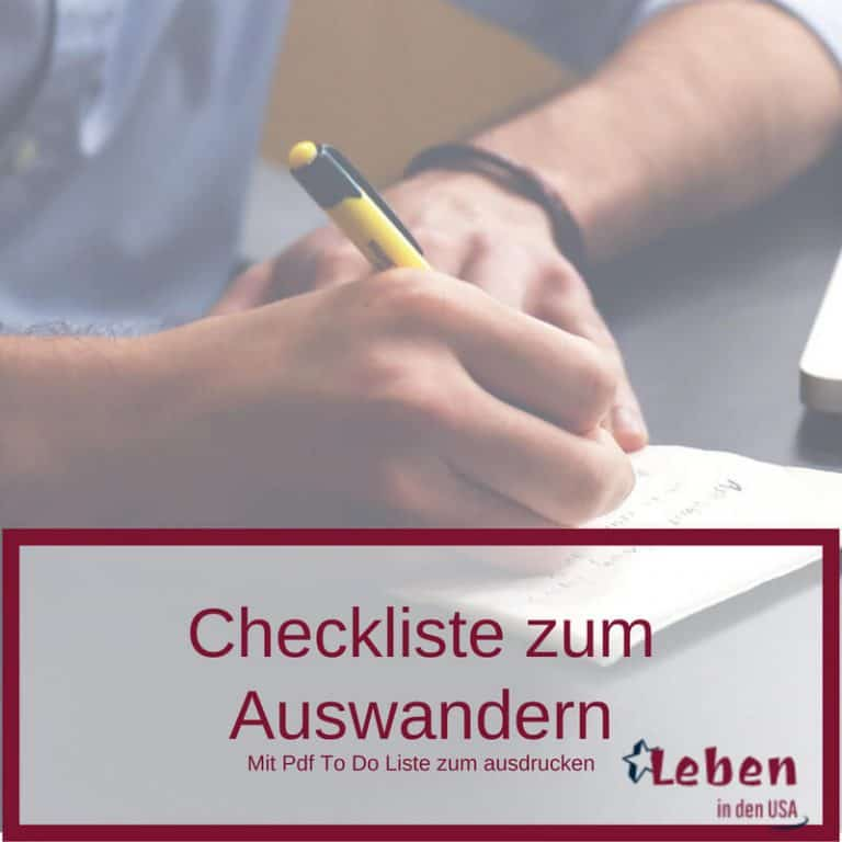 Checkliste zum Auswandern mit To Do Liste zum ausdrucken