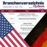 Branchenverzeichnis Deutsches USA - Liste mit deutschem in den USA