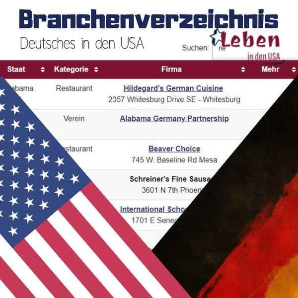 Branchenverzeichnis Deutsches USA – Finde Deutsches in Amerika