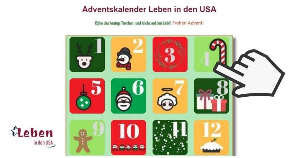 Adventskalender von Bloggern für Leser mit dem Thema Heimat oder USA und Weihnachten