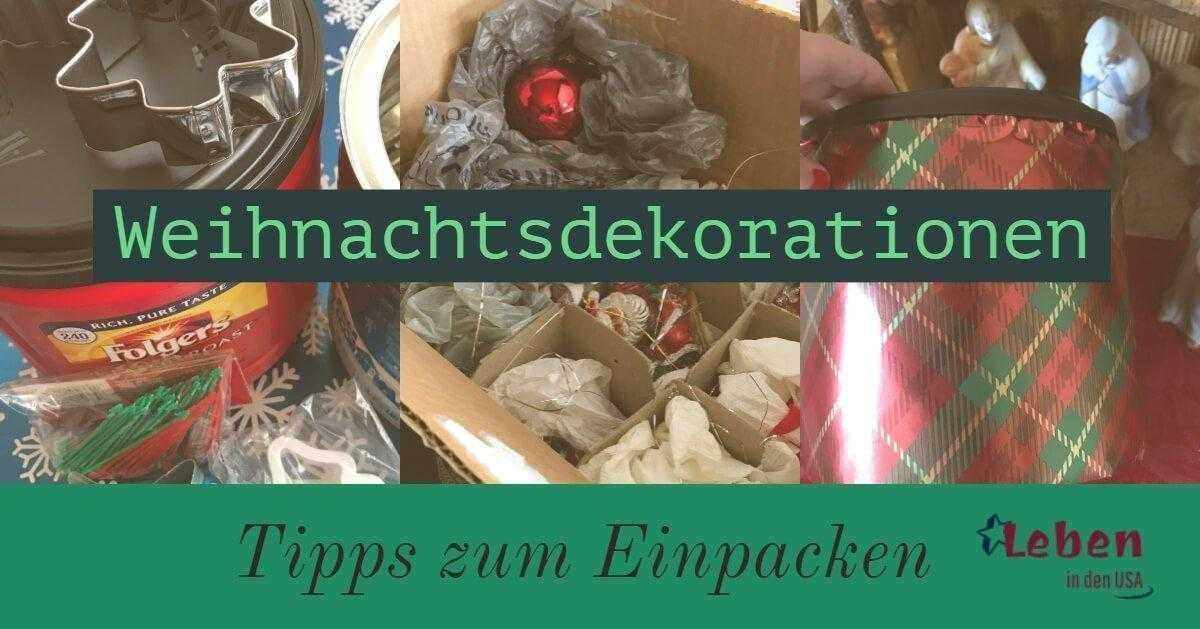 Weihnachtsdekorationen verpacken einfach und billig