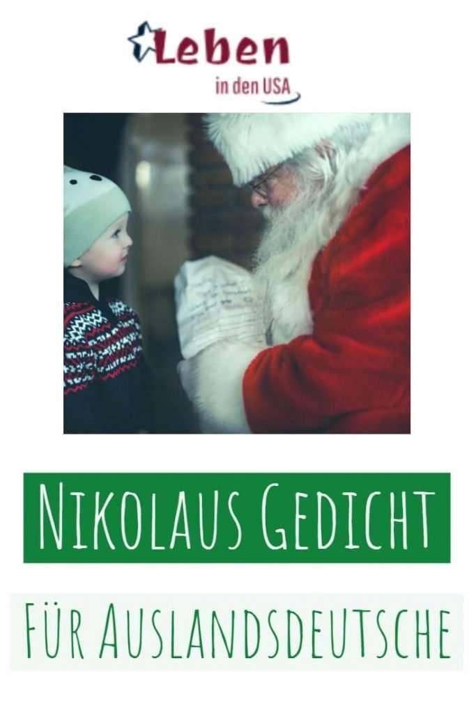 Nikolaus Gedicht für Deutsche in den USA