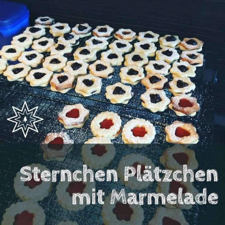 Sternchen Plätzchen mit Marmelade Rezept