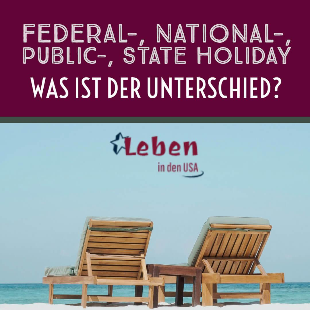 Federal-, national-, state oder public holiday in den USA