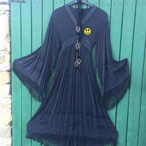 Hippie Kleid aus der Zeit des Woodstock Festivals