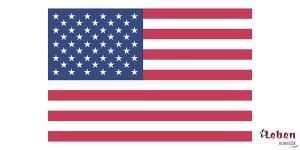 Die amerikanische Flagge die Fahne der Vereinigten Staaten von Amerika
