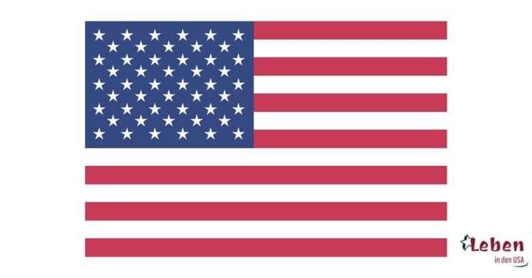 Amerikanische Flagge – Fahne der Vereinigten Staaten von Amerika