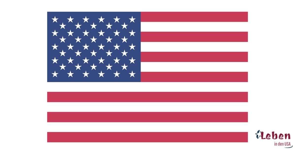 Amerikanische Flagge die Stars and Stripes der USA