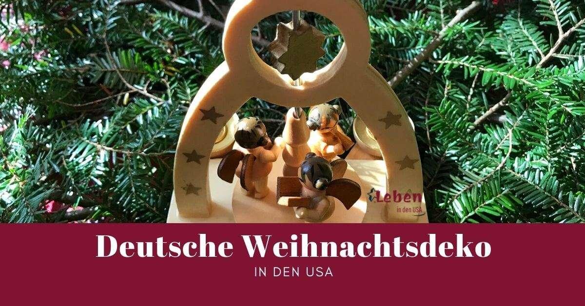 Deutsche Weihnachtsdekorationen in den USA