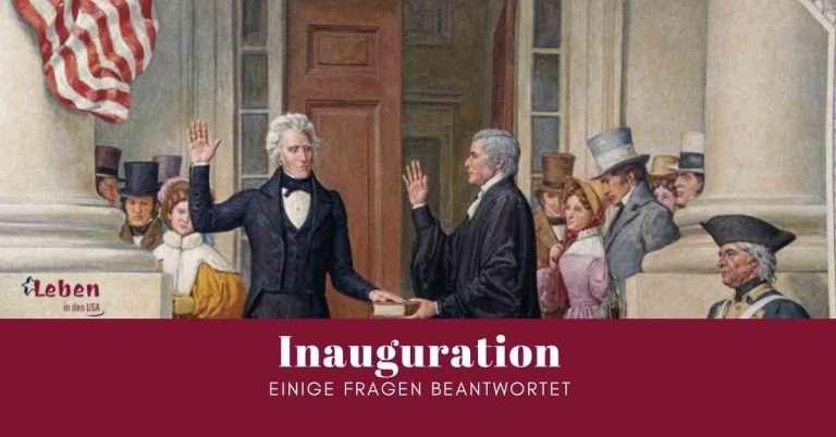 Inauguration die Amtseinführung des neuen Präsidenten