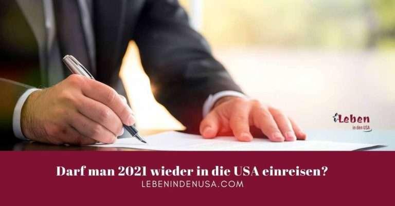 Einreisebeschränkung in die USA wegen Covid in 2021
