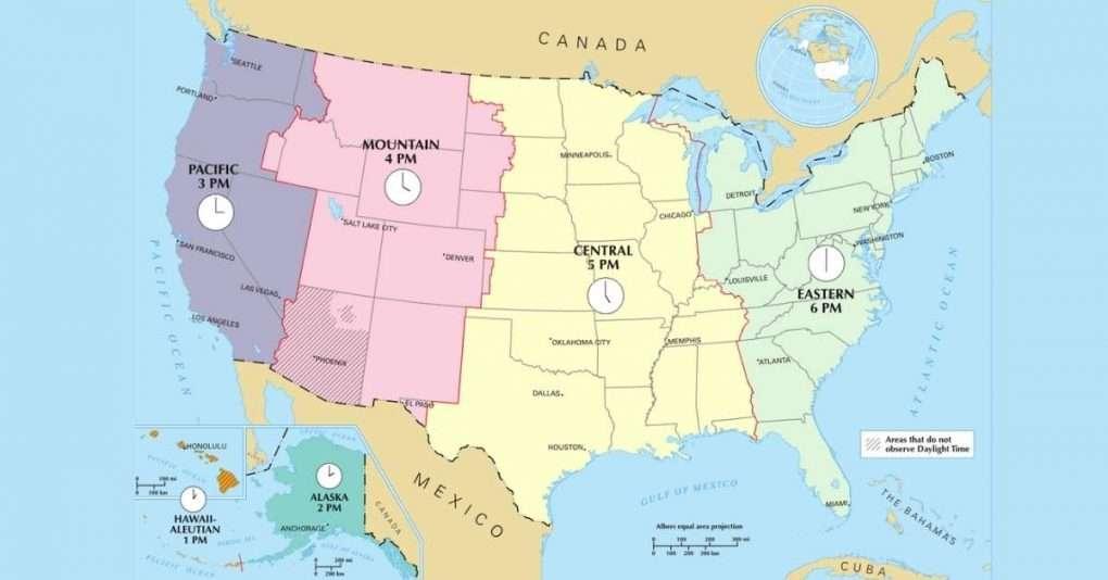 USA Zeitzonen