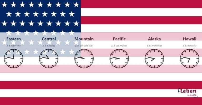 Zeitzonen USA – Aktuelle Uhrzeit, Karte und mehr